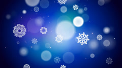Blue christmas background with snowflakes - stock footage