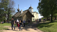 Stock Video Footage of The Cathedral in the fortress. Old Ladoga. 4K.