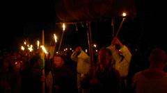 Beltane festival people 06 Stock Footage