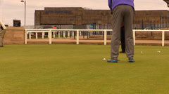 Golfer at the Royal and Ancient Golf Club of St Andrews (British Golf Museum) Stock Footage