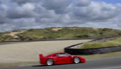 Ferrari F40 supercar Stock Footage
