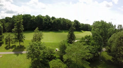 Aerial Shot Over Golf Course Stock Footage