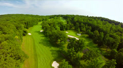 Aerial View Over Private Golf Course Stock Footage