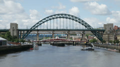Timelapse of the Tyne Bridge in Newcastle, England Stock Footage