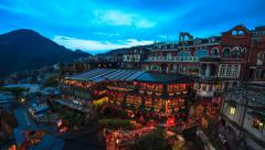 Timelapse of Jiufen, Taiwan Stock Footage