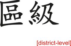 Chinese Sign for district-level Stock Illustration