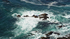 Waves on Rocks Big Sur - 2 Clips - stock footage