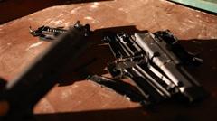 Closeup of broken Revolver Stock Footage