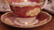 Stock Video Footage of Vintage tea cup