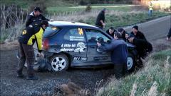 Rally rescue attempt - stock footage