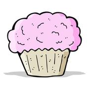 Stock Illustration of cartoon cupcake
