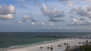 Stock Video Footage of Looking down at  Clearwater beach and Pier