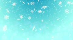 Snow Shape Loop Light Blue background  4K Resolution Ultra HD Stock Footage