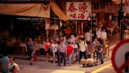 Stock Video Footage of Sheung Wan street, Hong Kong