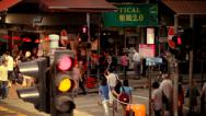 Stock Video Footage of Sheung Wan street, Hong Kong, slow motion