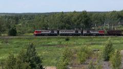Train traffic Stock Footage