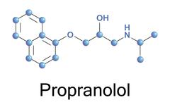propranolol - stock illustration