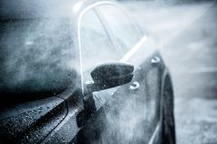 gentle car washing. Car wash - stock photo