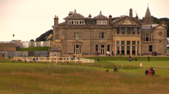 Golfer at The Royal and Ancient Golf Club of St Andrews Stock Footage