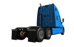 Rear of semi truck isolated illustration Stock Illustration
