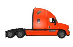 Side view of truck with no trailer isolated Stock Illustration