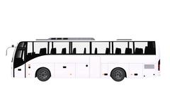 White bus side view isolated on white. Stock Illustration