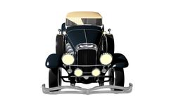 convertible oltimer isolated - stock illustration