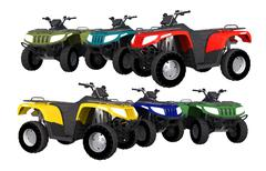 Quad bikes atv isolated on white. Stock Illustration