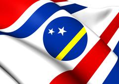 Governor of curacao flag Stock Illustration