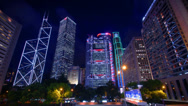 Stock Video Footage of Hong Kong Admiralty night time-lapse