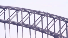 Truss structure of bridge Stock Footage