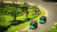 Stock Video Footage of Rickshaws on a tea plantation in Sri Lanka