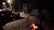 Stock Video Footage of Romantic couple camping time lapse