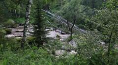 Belokurikha mountain river in altai krai. russia. Stock Footage