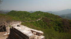 A cool unrestored guard tower of the great wall of china jiankou Stock Footage