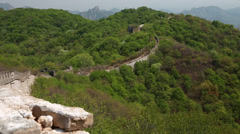 A cool unrestored section of the great wall of china jiankou Stock Footage