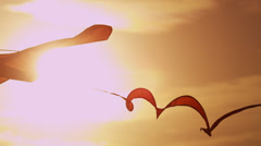 Close Up Coloured Toy Kite Moving Air Currents Stock Footage
