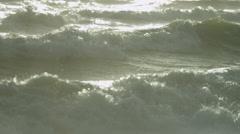 Ocean Waves Surf Spray Full Frame - stock footage