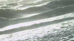 Clean Gentle Saltwater Ocean Waves Washing Ashore - stock footage