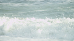 Cleansing Ocean Waves Surf Spray Full Frame - stock footage