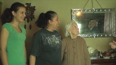 Grand Grand Mother, With Grand Daughter And Grand Grand Daughter, Talking Stock Footage