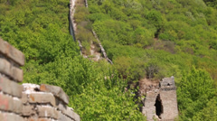 An unrestored section of the great wall of china beijing Stock Footage