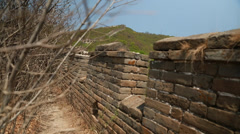 Cool unrestored section of the great wall of china at beijing jiankou Stock Footage