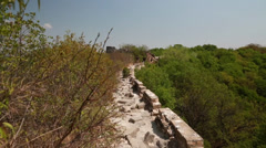 Great wall of china on mountain jiankou Stock Footage