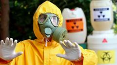 Danger of radioactivity Stock Footage