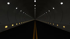 4k Seamless Looping Animation of Driving through Highway Road Tunnel Stock Footage
