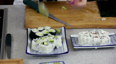 Adding Wasabi To Sushi Dish Stock Footage