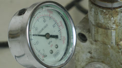 Pressure meter jumping up and down Stock Footage