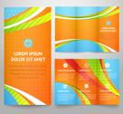 Stock Illustration of Professional three fold business flyer template, corporate broch