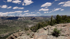 Panoramic view of Rocky mountains, Colorado, USA - stock footage